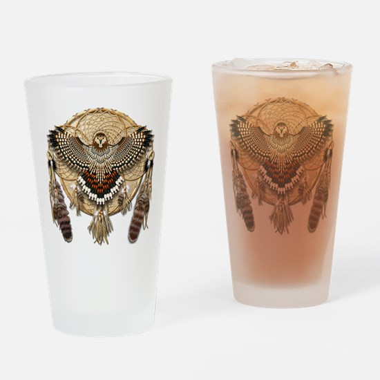 Red-Tail Hawk Dreamcatcher Drinking Glass