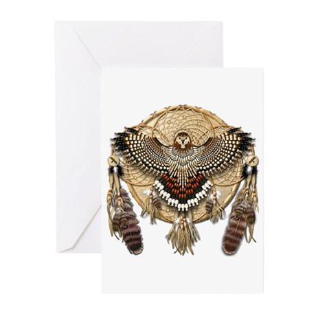 Red-Tail Hawk Dreamcatcher Greeting Cards (Pk of 1