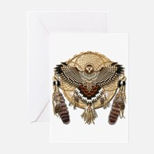 Red-Tail Hawk Dreamcatcher Greeting Cards (Pk of 2