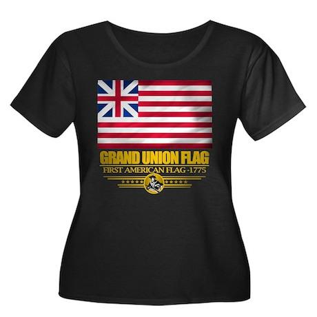 """Grand Union Flag"" Women's Plus Size Scoop Neck Da"