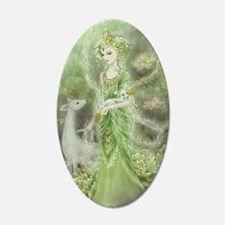 Lady of Compassion 22x14 Oval Wall Peel