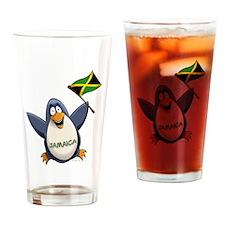 Jamaica Penguin Drinking Glass