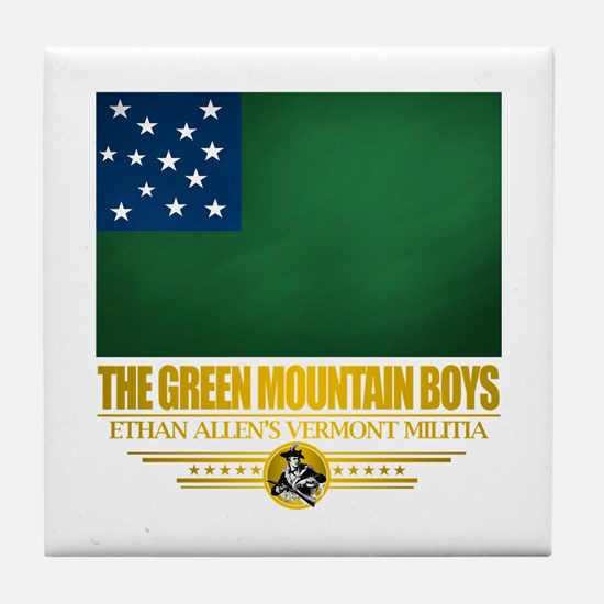 """The Green Mountain Boys"" Tile Coaster"