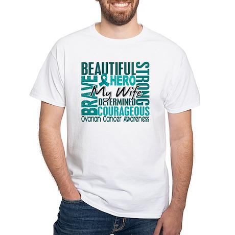 Tribute Square Ovarian Cancer White T-Shirt
