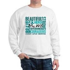Tribute Square Ovarian Cancer Sweatshirt