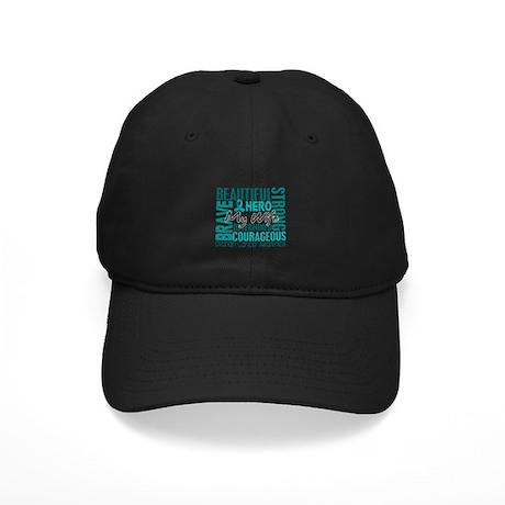 Tribute Square Ovarian Cancer Black Cap