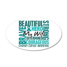 Tribute Square Ovarian Cancer 22x14 Oval Wall Peel