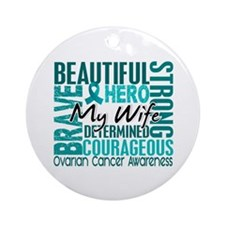 Tribute Square Ovarian Cancer Ornament (Round)