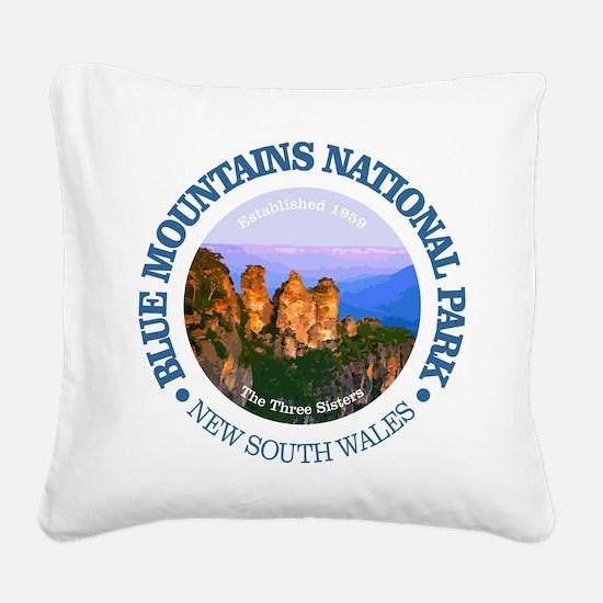 Blue Mountains NP Square Canvas Pillow