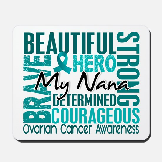 Tribute Square Ovarian Cancer Mousepad