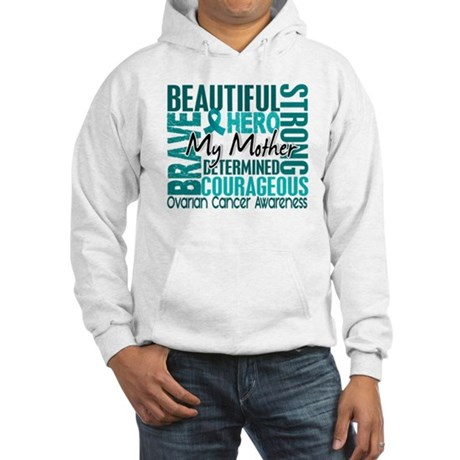 Tribute Square Ovarian Cancer Hooded Sweatshirt