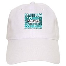 Tribute Square Ovarian Cancer Baseball Cap