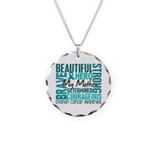 Tribute Square Ovarian Cancer Necklace
