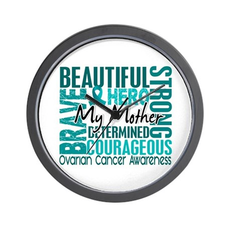 Tribute Square Ovarian Cancer Wall Clock