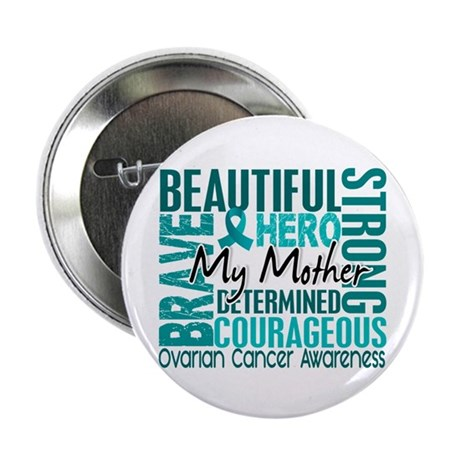 """Tribute Square Ovarian Cancer 2.25"""" Button (100 pa"""