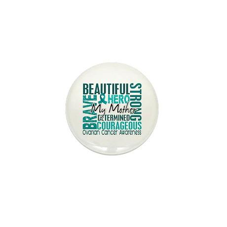 Tribute Square Ovarian Cancer Mini Button (10 pack