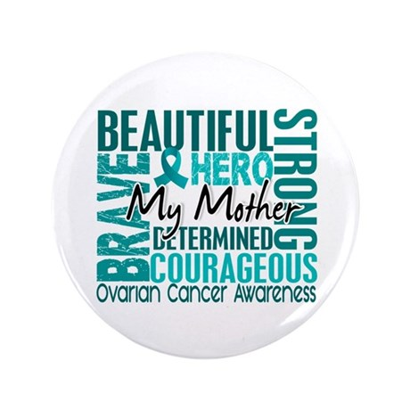 "Tribute Square Ovarian Cancer 3.5"" Button (100 pac"