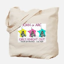 Joan of Arc-Girl's Knight Out Tote Bag