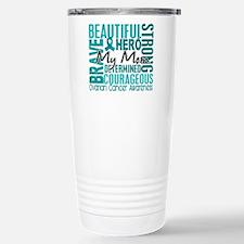 Tribute Square Ovarian Cancer Travel Mug