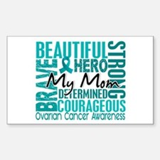 Tribute Square Ovarian Cancer Sticker (Rectangle)