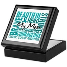 Tribute Square Ovarian Cancer Keepsake Box