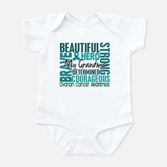 Tribute Square Ovarian Cancer Infant Bodysuit