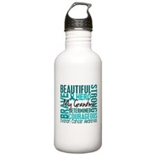 Tribute Square Ovarian Cancer Water Bottle