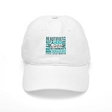 Tribute Square Ovarian Cancer Baseball Cap