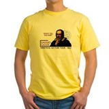 Science Mens Yellow T-shirts