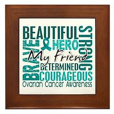 Tribute Square Ovarian Cancer Framed Tile