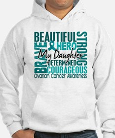 Tribute Square Ovarian Cancer Hoodie