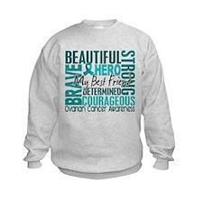 Tribute Square Ovarian Cancer Sweatshirt