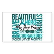 Tribute Square Ovarian Cancer Decal