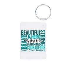 Tribute Square Ovarian Cancer Keychains