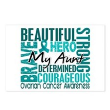 Tribute Square Ovarian Cancer Postcards (Package o