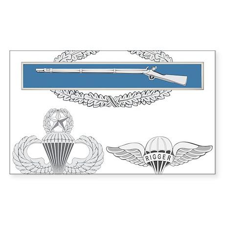 CIB Master Airborne Rigger Sticker (Rectangle)