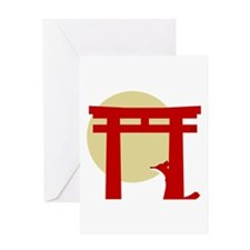 Torii Fox Greeting Card