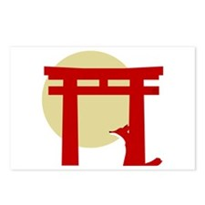 Torii Fox Postcards (Package of 8)