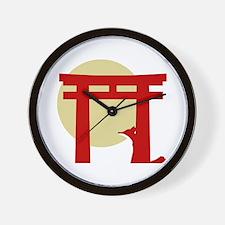 Torii Fox Wall Clock