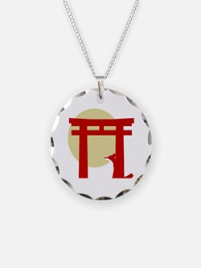 Torii Fox Necklace Circle Charm