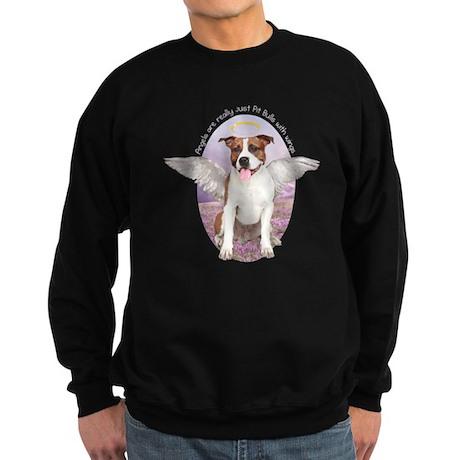 Pit Bull Angel Sweatshirt (dark)