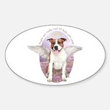 Pit Bull Angel Sticker (Oval)