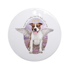 Pit Bull Angel Ornament (Round)
