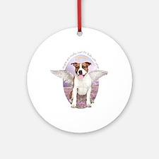 Pit Bull Angel Ornament (Round)