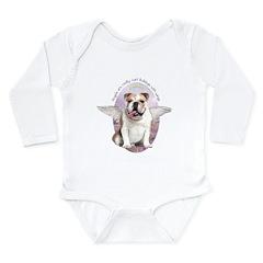 Bulldog Angel Long Sleeve Infant Bodysuit