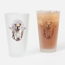 Bulldog Angel Drinking Glass