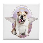Bulldog Angel Tile Coaster