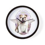 Bulldog Angel Wall Clock