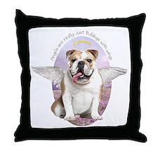 Bulldog Angel Throw Pillow