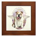 Bulldog Angel Framed Tile